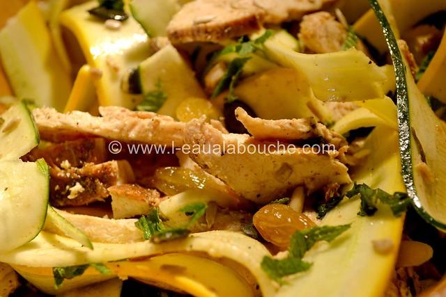 Salade de Courgettes au Poulet © Ana Luthi Tous droits réservés 019
