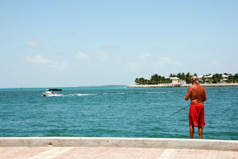 Caribbean Ocean from Key West's Mallory Square