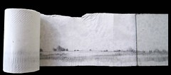 Buen Calubayan, Eternal Landscape, 2010-2013, Graphite and charcoal on tissue paper, 4 x 50'