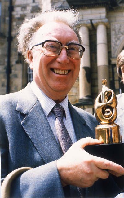 Frank Atkinson, with Museum of the Year award 1987 - click for photo / credits
