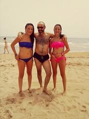 En Miami beach despues de un concierto con dos fans..., Ann y Lorena!!!. ¿A que os da como un poco de envidia???
