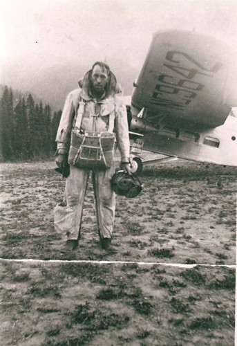 Rufus Robinson (pictured) and Earl Cooley are the first two men to parachute from an airplane to fight a forest fire
