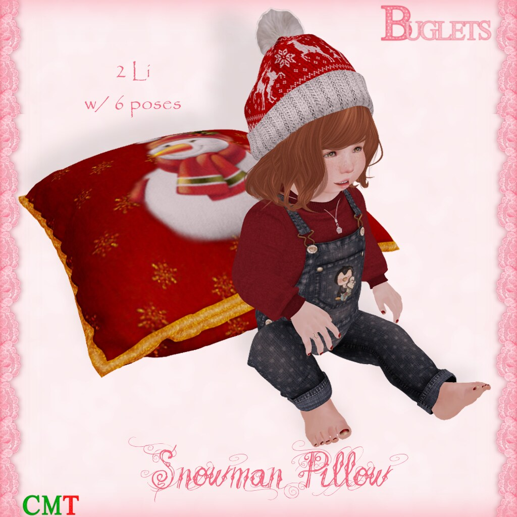 Snowman Pillow AD - SecondLifeHub.com
