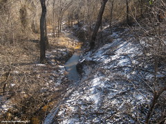 snow-dusted creek