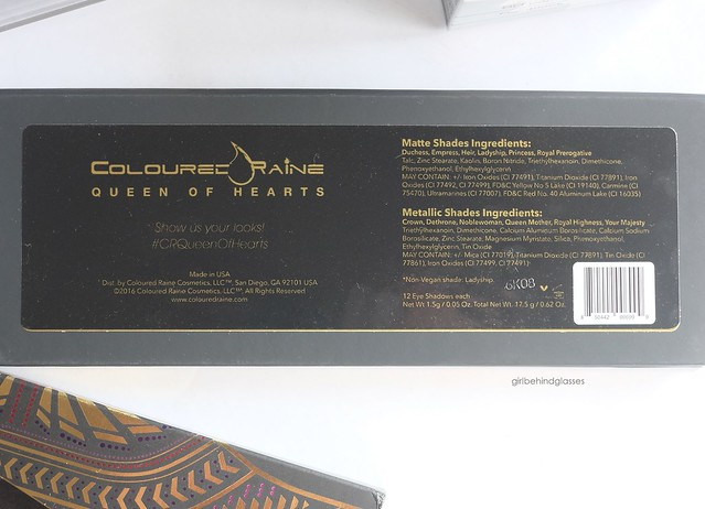Coloured Raine Queen of Hearts Palette2