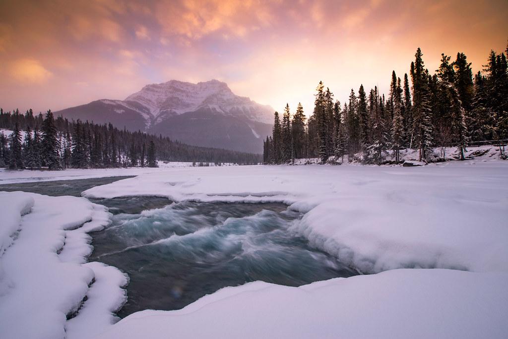 Sunrise Over Athabasca Fall