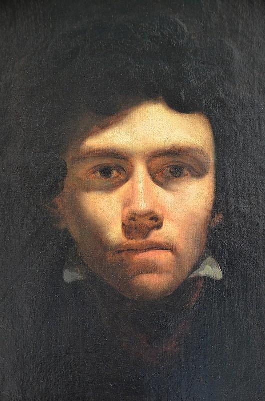 """Rouen (Seine-Maritime) - Musée des Beaux-Arts - """"Portrait de Delacroix"""" (attribué à Eugène Delacroix, 1798-1863)"""