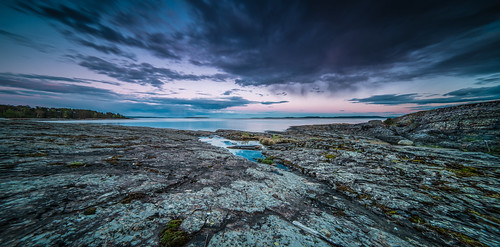 ocean longexposure sunset sea sky panorama color reflection water lines norway stone clouds mirror evening nikon heaven horizon structure explore le coastline afterglow d800 samyang