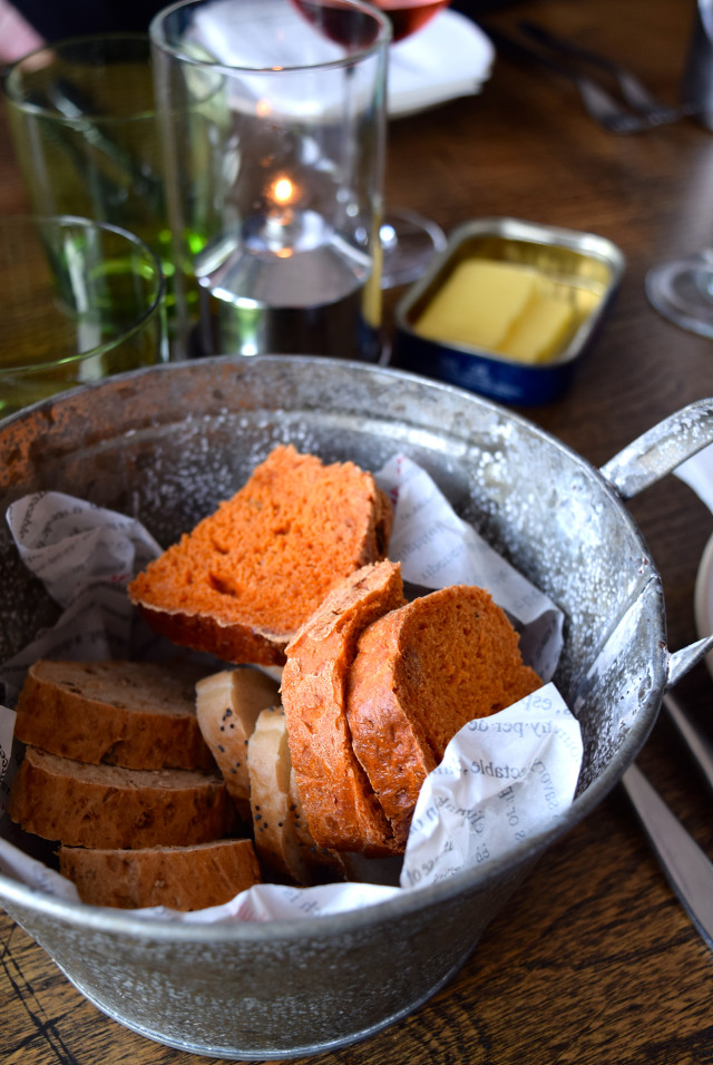 Homemade Paprika Bread at The Boatyard, Isle of Man