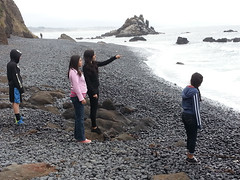 An excursion to the Pacific Ocean is chilly but fun for these Philomath, Oregon, junior youth. Photo courtesy of Paula Siegel