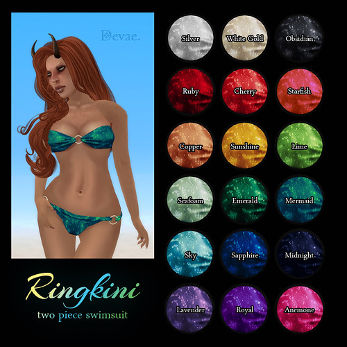 Devae. Attire: The Ringkini Bikini Colors!