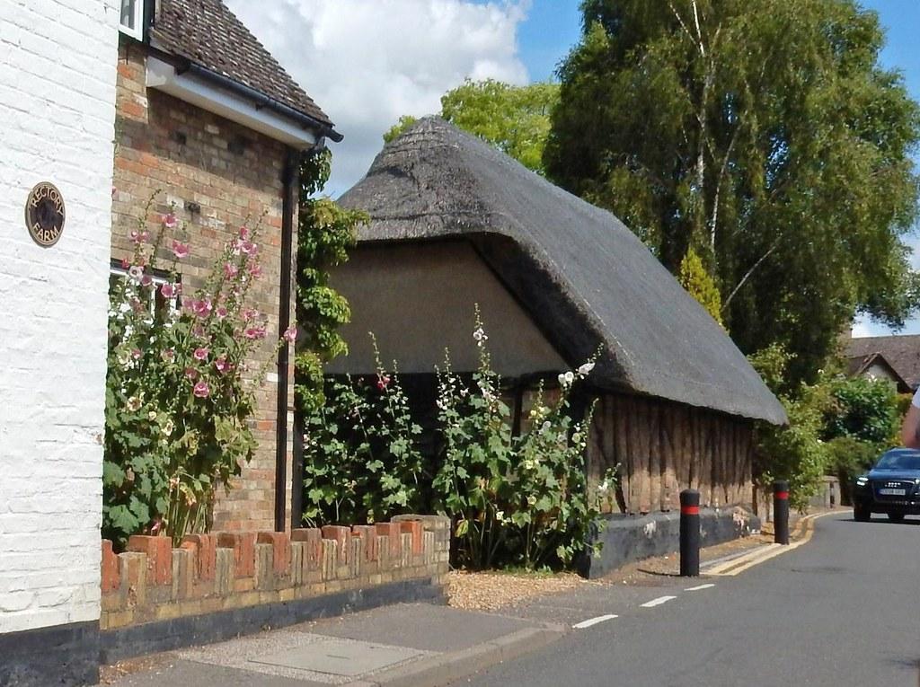 Thatched building Wyton Huntingdon Circular (long)