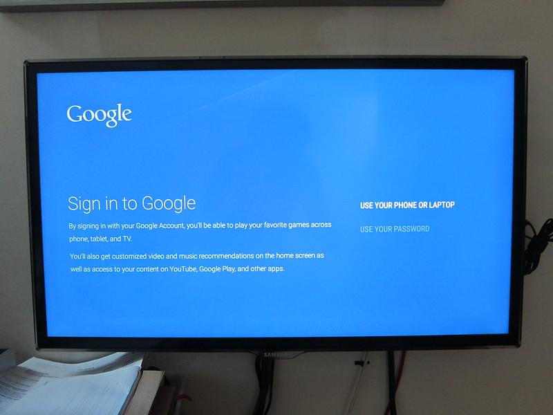Nexus Player - Sign in to Google