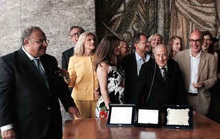 Rutigliano- La prima Toga di Platino italiana è di Rutigliano-Francesco Saverio Campanella, insignito del prestigioso riconoscimento in occasione dei 70 anni
