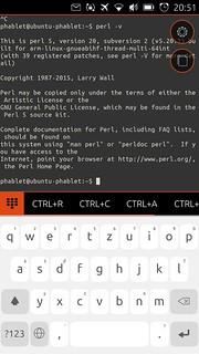 Perl interpreter on Phone