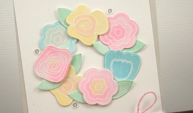 Jen Carter Paper Sweetiesn Flower Wreath Closeup 1.2