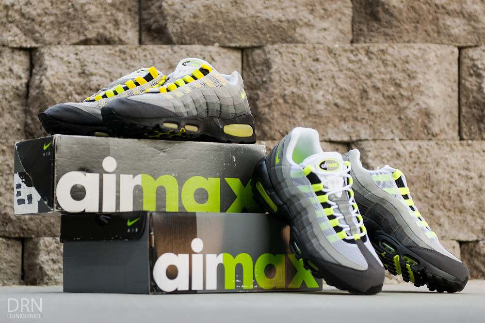 Comparisons - 1995 & 2015 Neon Air Max 95