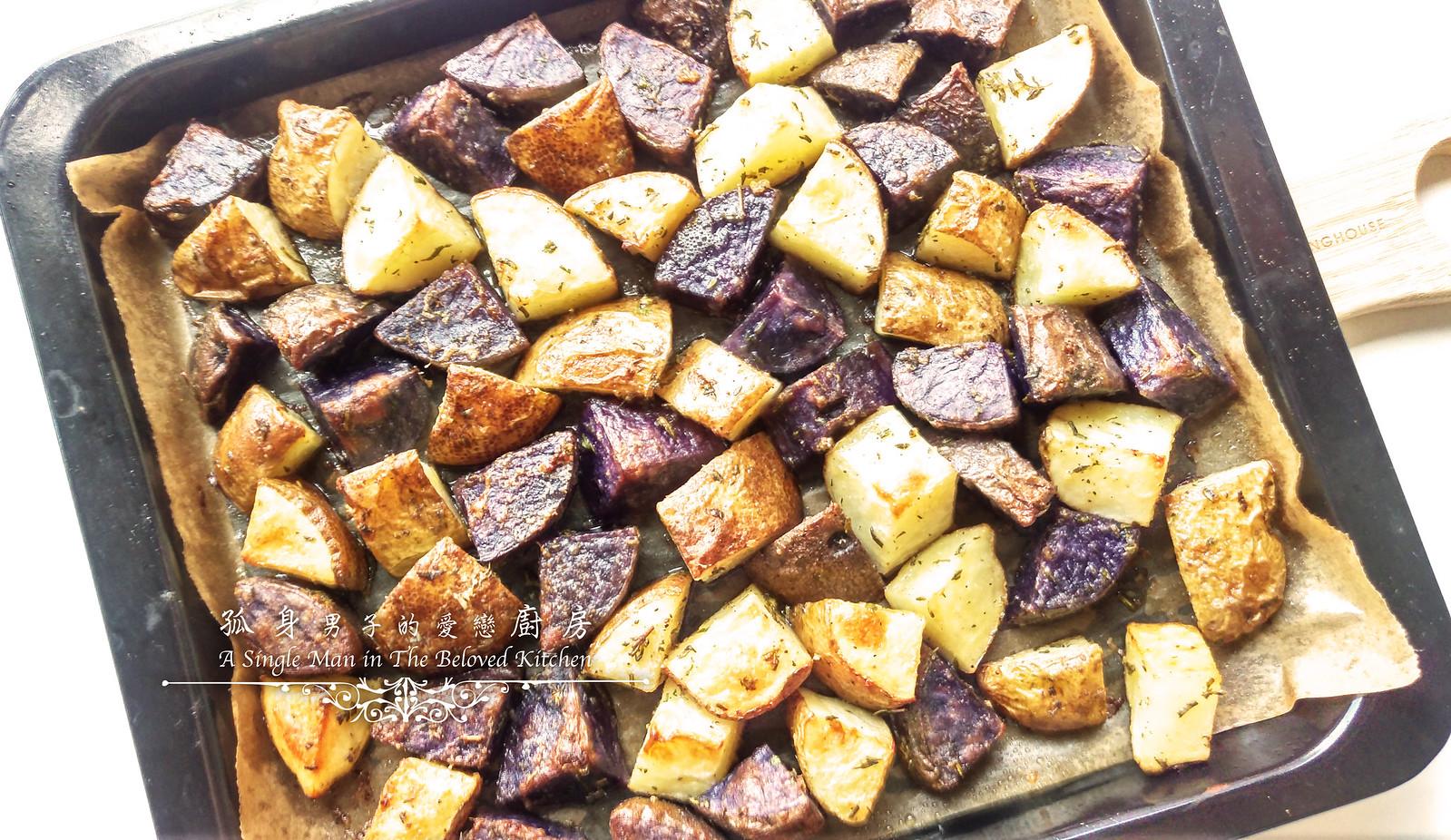 孤身廚房-香草烤雙色馬鈴薯──好吃又簡單的烤箱料理14