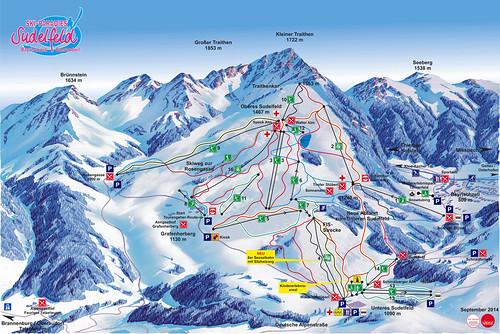 Bayrischzell - mapa sjezdovek