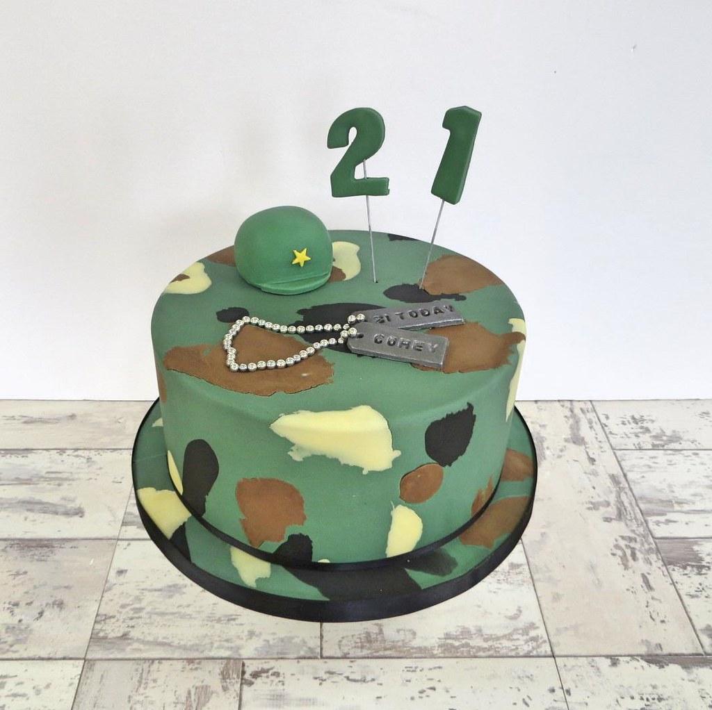 Army 21st Birthday Cake