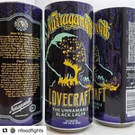 #Repost @rifoodfights with @repostapp ・・・ The Unnamable Black Lager from @gansettbeer! Be sure to join them w/ @newharvestpvd and @rogueisland at the @arcadeprovidence on 1/19! TAG your Lovecraft folks! #rifoodfights