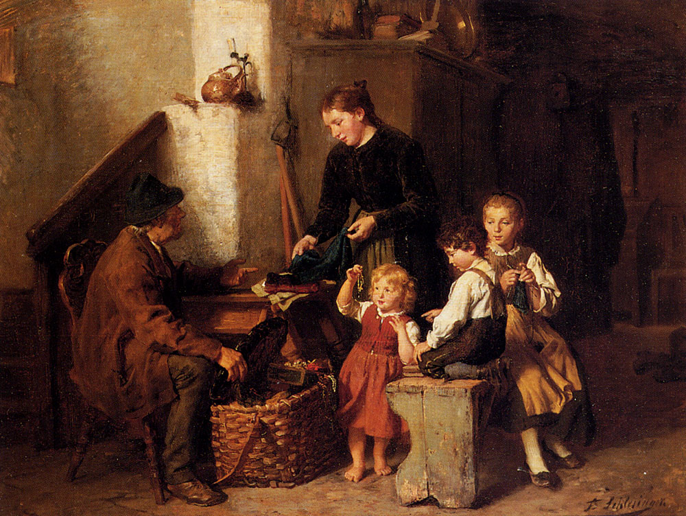 The Peddler's Wares by Felix Schlesinger