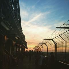 #Sunset on the second floor of #EiffelTower #Paris #Travel #wanderlust #love