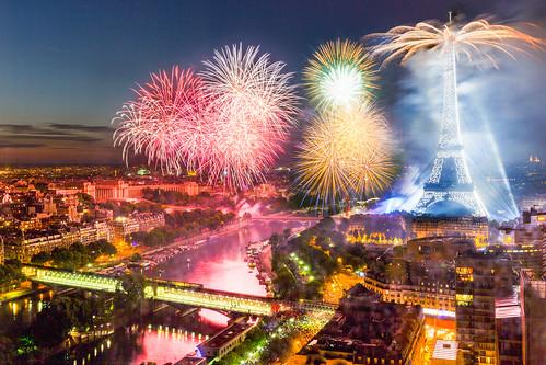 Bastille Day 2015 Fireworks in Paris