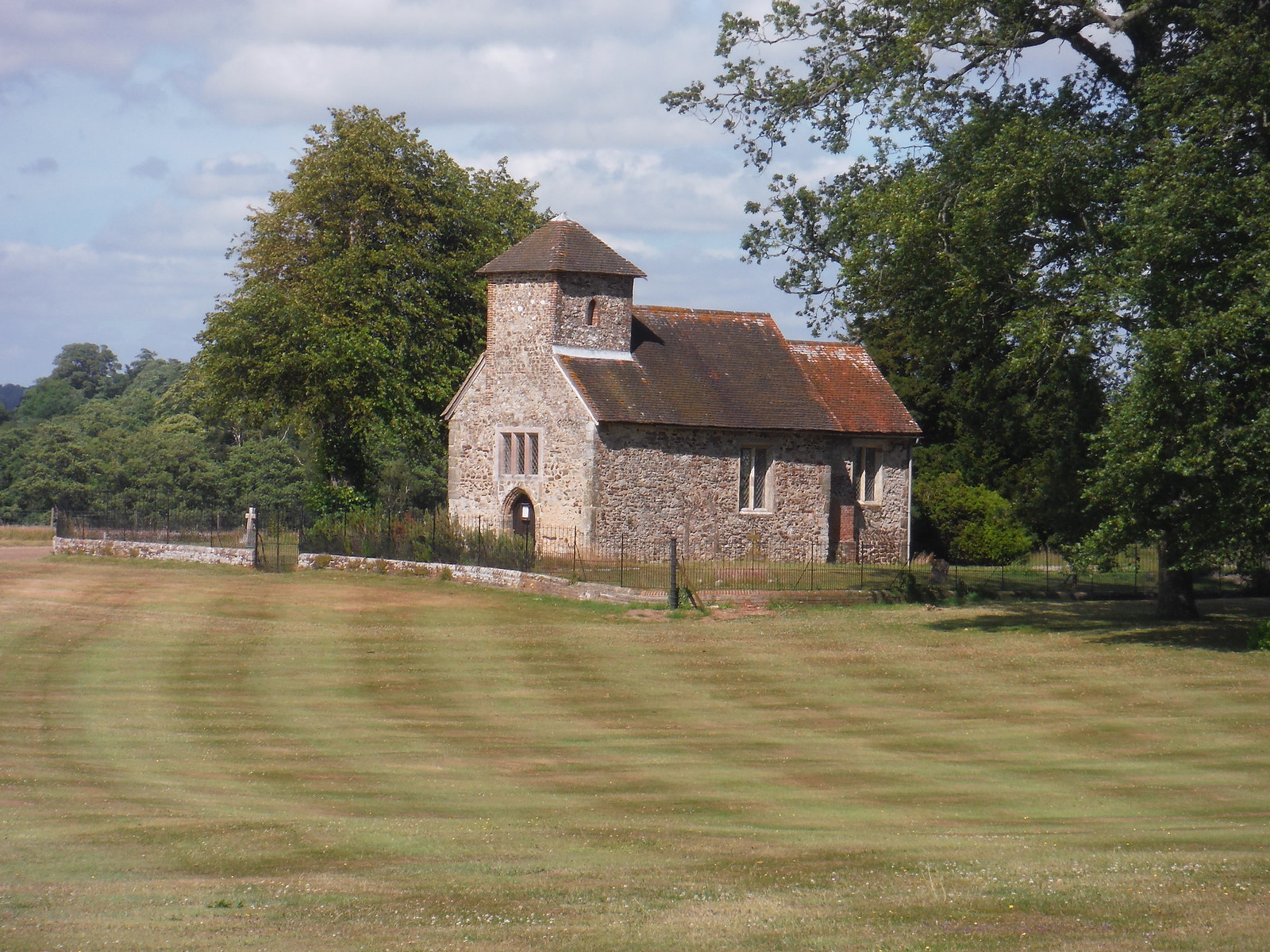 Church in Burton Park SWC Walk 217 Midhurst Way: Arundel to Midhurst
