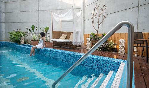 台南汽車旅館推薦媜13 房內還有游泳池真過癮 (6)