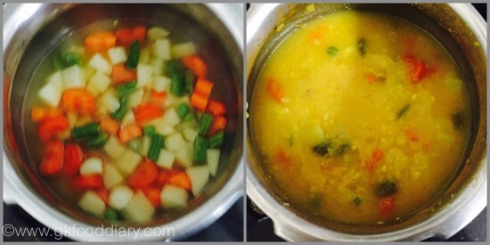 Veg Dal Soup for Babies - step 2