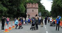 Official ribbon cutting ceremony at Sandiway Round Tower