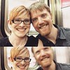 Dressed up & being silly on the subway with my honey! #bff #subway #ussie #weekend #onblurpose @m_alex_h