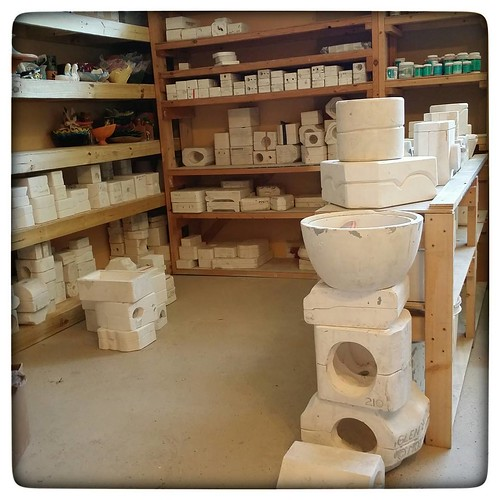 Figurines and planters and ashtrays and baby heads and mugs, oh my! #ceramics #ceramicstudio