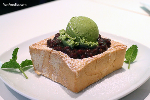 Red Bean Green Tea Ice Cream Thick Toast