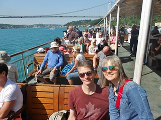 Dave and Errin on the Bosphorus