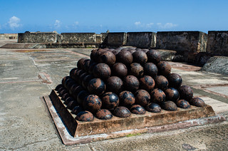 Image of Castillo San Cristóbal near San Juan. puertorico fort sanjuan pr cannonballs castillodesancristóbal