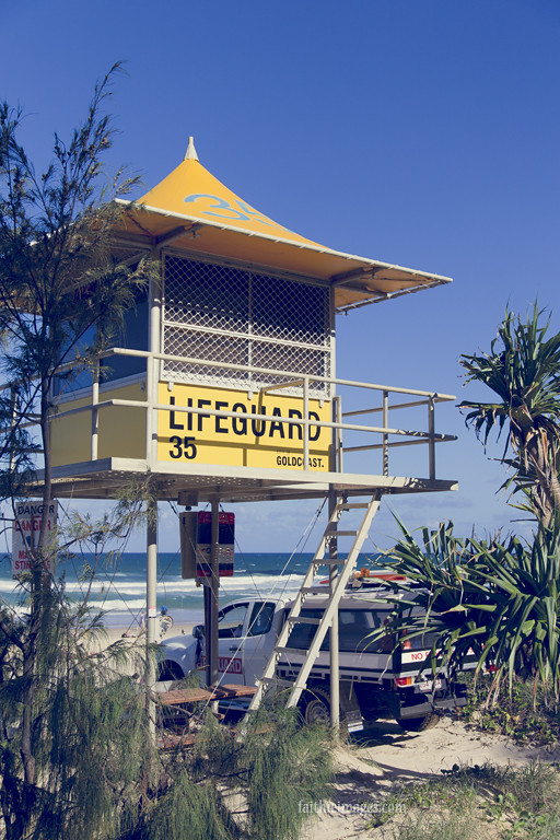 Queensland beach lifeguard