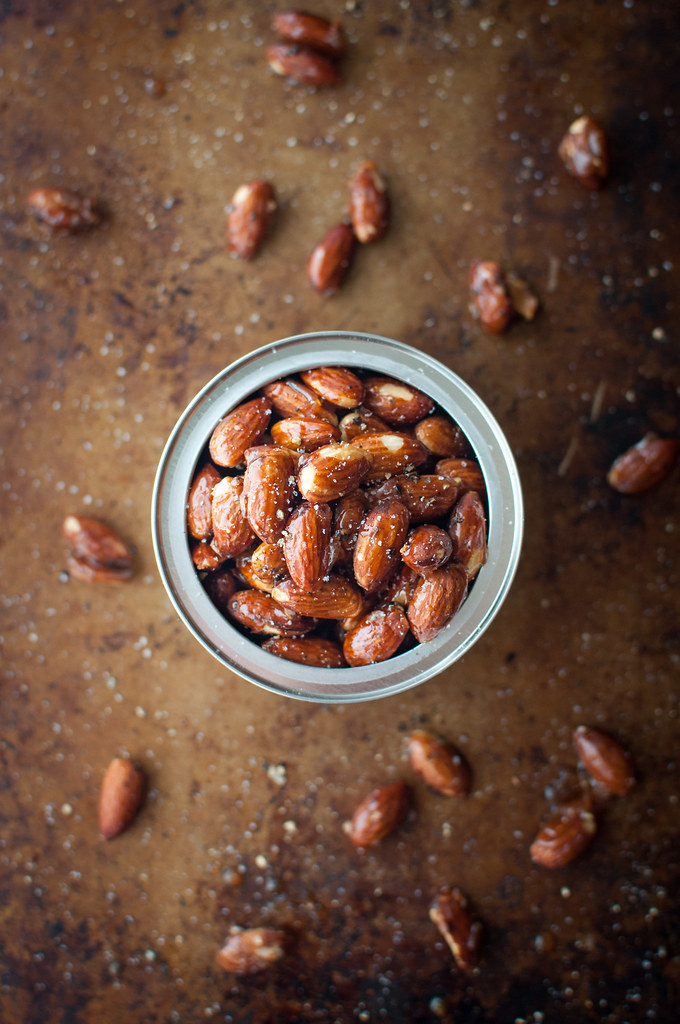 Truffle salt and pepper honey roasted almonds recipe