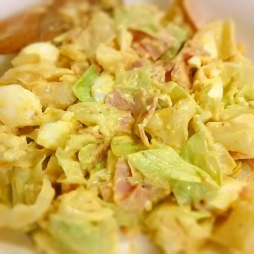 キャベツとゆで卵の激うまサラダ