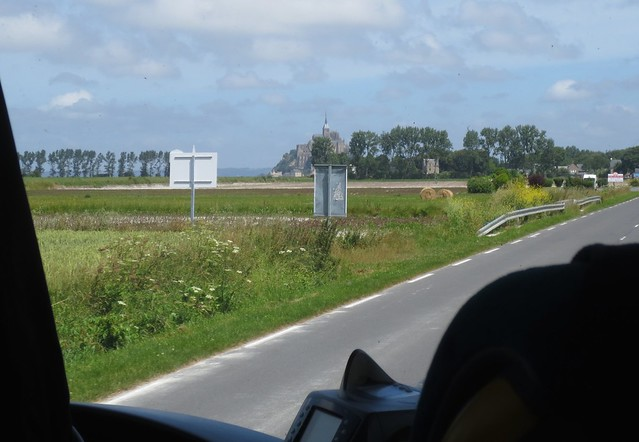 First Glimpse of Mont Saint Michel, from the bus