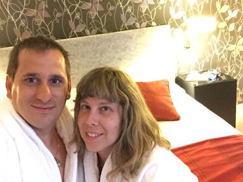Sele y Rebeca en el Hotel Termal Burgo de Osma