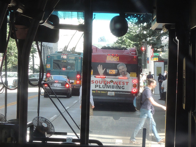 RapidRide bus (6051) on a non RapidRide route