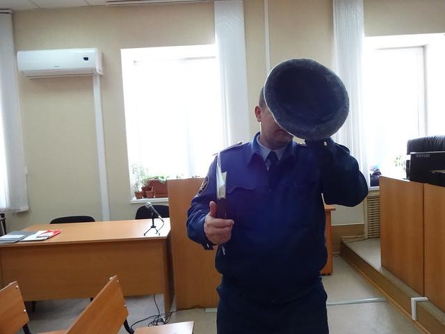 Представитель ИК-2 Новосибирска Сердюков Д. А. в Ленинском суде