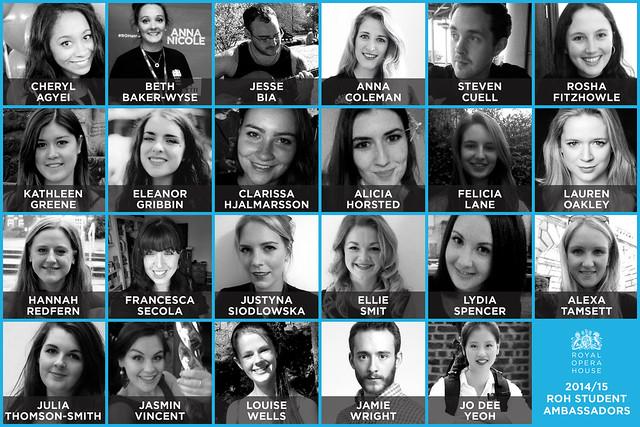 Royal Opera House Student Ambassadors 2014/15 © ROH, 2015