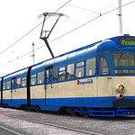 Flexitized Preston Electric Tram Power Car No 631 at Preston Retro Shot Awesome Revised BluePhoto Shoot