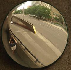 Parking mirror selfie.