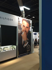 Tommy Hilfiger Frontlit Fabric display