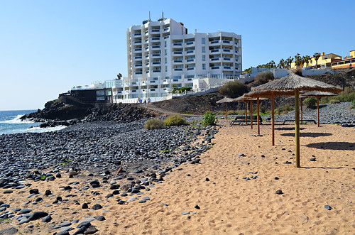 Manmade sandy beach between Golf del Sur and Los Abrigos, Tenerife