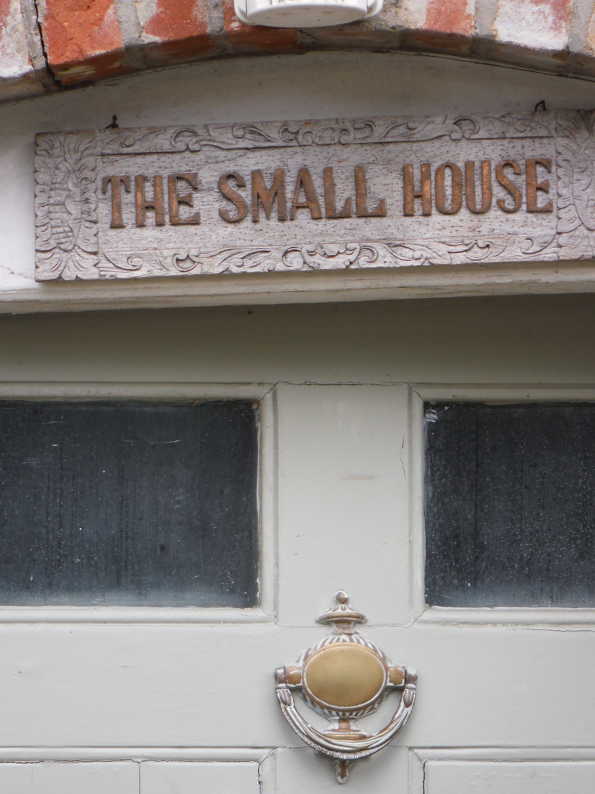 Door of The Small House SWC Walk 249 Tisbury Circular via Dinton and Fovant